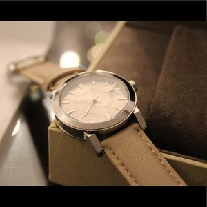 Women's Burberry Leather Strap Watch